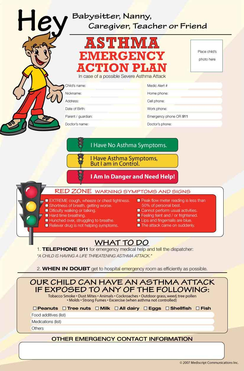 _Asthma Emergency Action Plan Poster - Mediscript ...